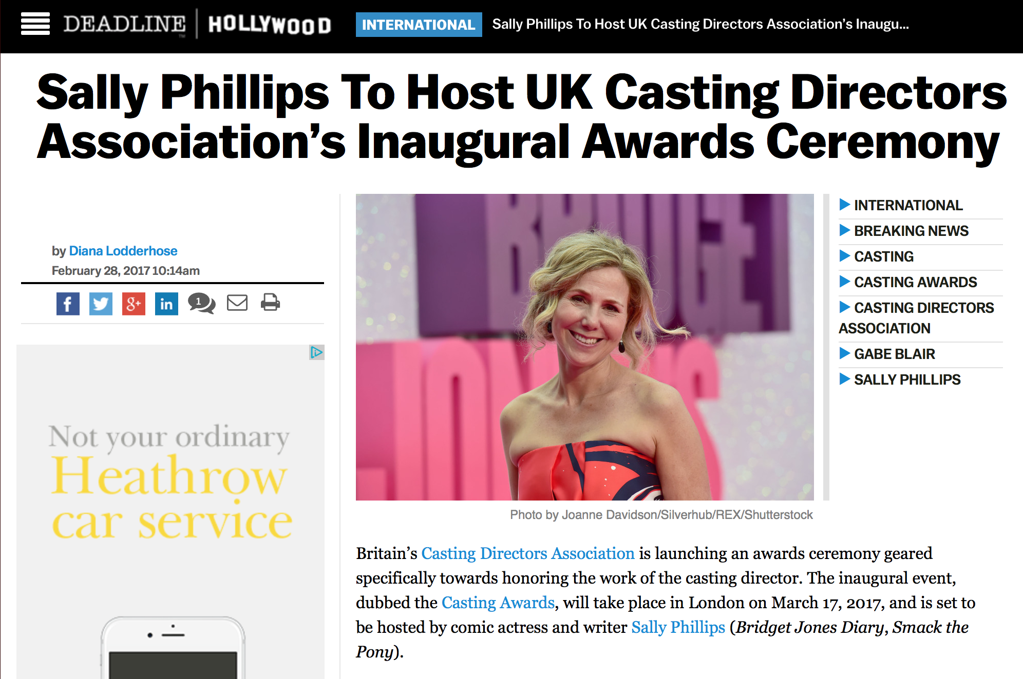 CDA Awards - Nominees Announcement –Deadline Hollywood