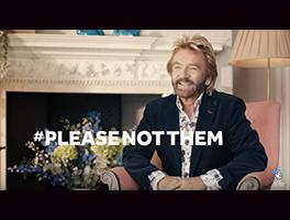 Noel Edmonds in National Lottery #PleaseNotThem commercial